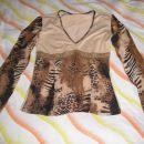 elegantna majica, tigrasti vzorec, rokavi na trapez. cena:10€