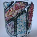 Kozarec, lepljive barve za steklo, perlice, bleščice