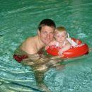 Z atijem na plavalnem tečaju. Nora zadeva!