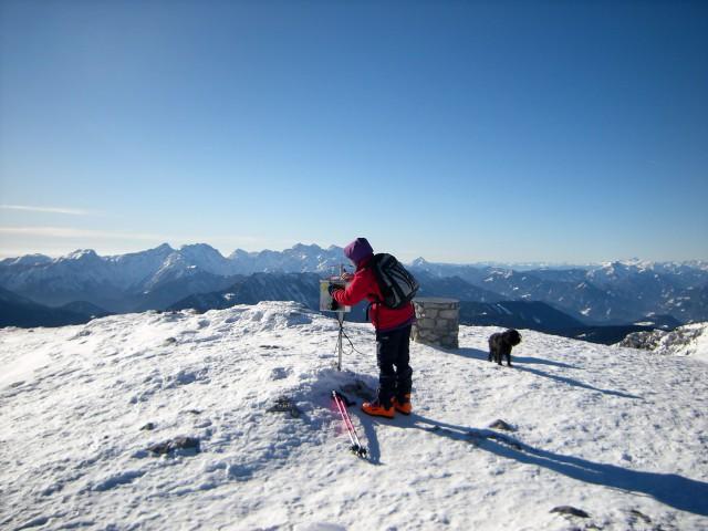 Na Kordeževi glavi, v panorami Savinjskih Alp in Košute