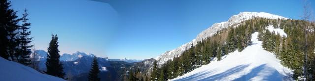 Pogled proti vrhu Pece