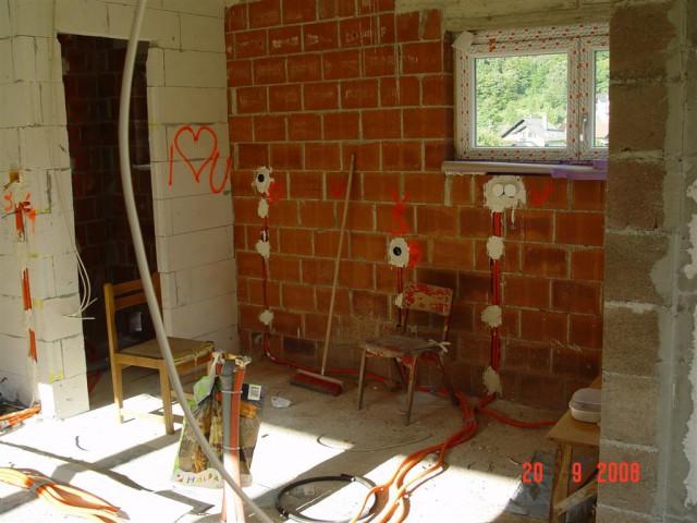 Naša hiša- IZDELAVA ELEKTRIKE(01.09-22.09.08) - foto