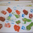 odtiskovanje - jabolka, hruške, vrv oktober 2012