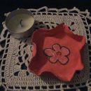 svečnik - pobarvan z akrilno barvo, servietek