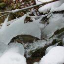 ledene tvorbe v potoku