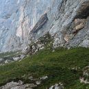 južna Koglova stena kot jo vidimo sedaj - prehod se začne na oni strani izrazitega skalnot