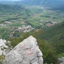 Gradišče in Vipava z vrha