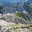 prehojen grebenček Mala glava je tale na sredi - oni na levi je greben Na Možeh - Palec