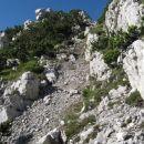 delček poti - tik preden stopim na greben