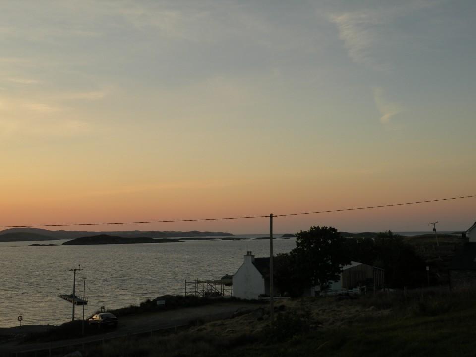 Škotska Harris hostel in sončni vzhod. - foto povečava
