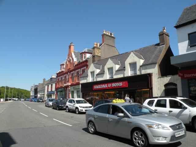 Škotska Stornoway po mestu - trajekt Ulapool - foto