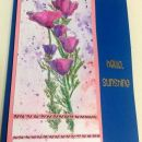 Bloom purple watercolor