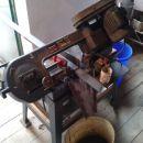Rezanje materjala za loputo(njen zgornji rob)