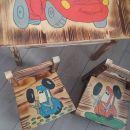 komplet  lesena miza  + 2x  stol lesen
