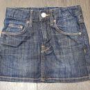 hm nenošeno jeans krilo vel. 104 (realno večja za 110-116)