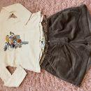 Zara majica 122, Okaidi nove kratke hlače 7-8 let. Krasen komplet. 10 eur.