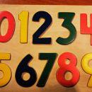 Lesena sestavljanka - številke