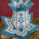 3d origami vaza