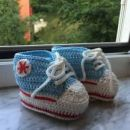 Pletene All star za dojencka