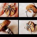 Prstan iz plutovinastega zamaška -Dragonfly-