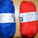 modra,rdeča  iteks ilok mathilde volna - 2,10 eur/2 klopčiča