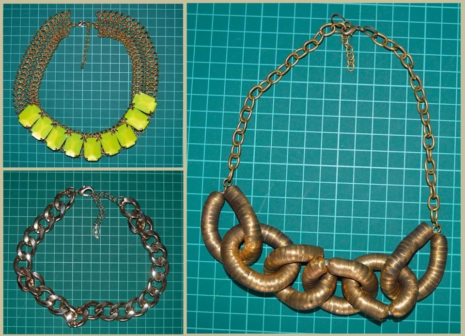 ogrlice v zlati barvi - 2 eur/kom