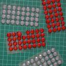 nalepke polperle - 0,80 eur/ 1 siva + 1 rdeča
