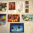 Komplet 7 voščilnic s kuvertami, in 6 darilnih listkov založba UNSU, IC = 2 eur