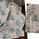 Zavesa, bombaž, modre rože