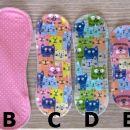 ŽENSKE ZADEVE - pralni higienski vložki s krilci, IC = A,B = 3 eur, C-F = 2 eur