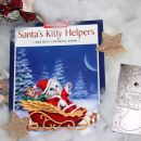 Pobarvanka za otroke Santas kitty helpers