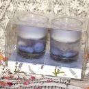 Dve dišeči svečki v kozarčku  IC = 4 eur