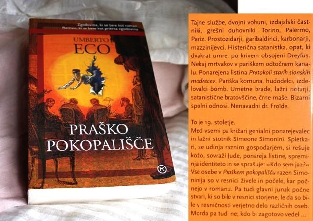 12 a . PRAŠKO POKOPALIŠČE, Umberto Eco   IC = 4 eur