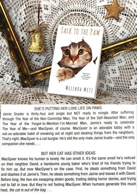 14b. TALK TO THE PAW, Melinda Metz