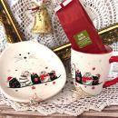 54. Mačja čajanka  - krožnik, lonček in čaj    IC = 15 eur