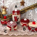 137.  Praznične ročno narejene sveče IC a = 4 eur, b,c,d = 3 eur