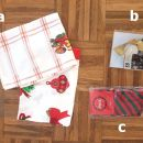 151a,b,c. Kuhinjske krpe, svečka, nogavice    ICa,b,c = 1 eur