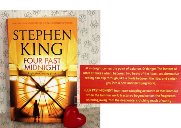 22c. FOUR PAST MIDNIGHT, Stephen King    IC = 7 eur