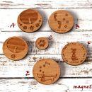 2.Leseni magnetki     IC a-f = 2 eur