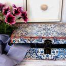 4. Dekorativna lesena škatla za shranjevanje 29 x 21,5 cm   IC = 6 eur