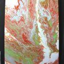 153b. Abstraktna slika, akril na platnu  50 x 70 cm   IC = 20 eur