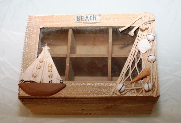 306. Lesena škatla za spravilo čajnih vrečk, 20,5 x 14 x 9 cm   IC = 5 eur