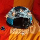 157. Mačje skrivališče, ročno delo, kvačkano, bombaž, 36x26cm  IC = 8 eur