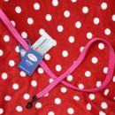 17. Nov roza povodec, z odsevniki, S, d: 110 cm  Cena: 4 eur ( + 1 eur poštnina )