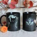 3. Lončka z gothic mačkastim motivom, enaka   ICa,b = 8 eur