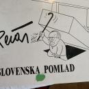 Pečar: Slovenska pomlad, karikature