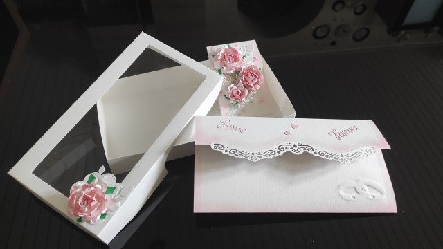 Poročna voščilnica- kuverta ( v škatlici) - foto