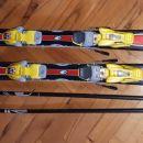 PRODANO Smuči 123 z vezmi in palice 103 cm - 30 Eur