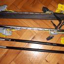 PRODANO Otroške smuči in palice,123 in 103 cm, vezi - 30 Eur