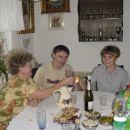 Takole pa smo jaz in mami ter moj možek nazdravili na njegov praznik.